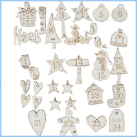 Aanbieding Set : Advent figuren 1 tot en met 24 in roomwit